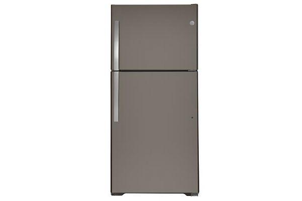 Large image of GE 21.9 Cu. Ft. Slate Top-Freezer Refrigerator - GTS22KMNRES