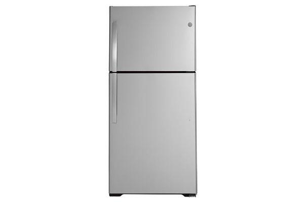 Large image of GE 21.9 Cu. Ft. Stainless Steel Top-Freezer Refrigerator - GTS22KSNRSS