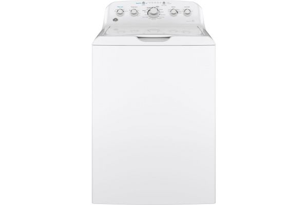 Large image of GE 4.5 Cu. Ft. White Top Load Washer With Stainless Steel Basket - GTW465ASNWW