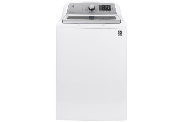 Large image of GE 4.6 Cu. Ft. White Top Load Washer With Sanitize With Oxi And FlexDispense - GTW725BSNWS
