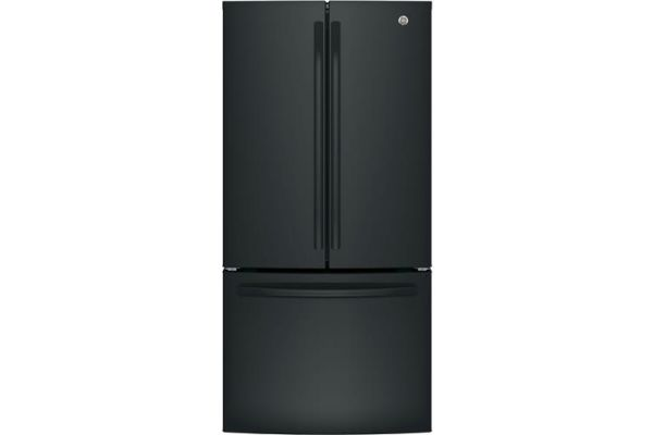 GE Black Counter-Depth French-Door Refrigerator - GWE19JGLBB