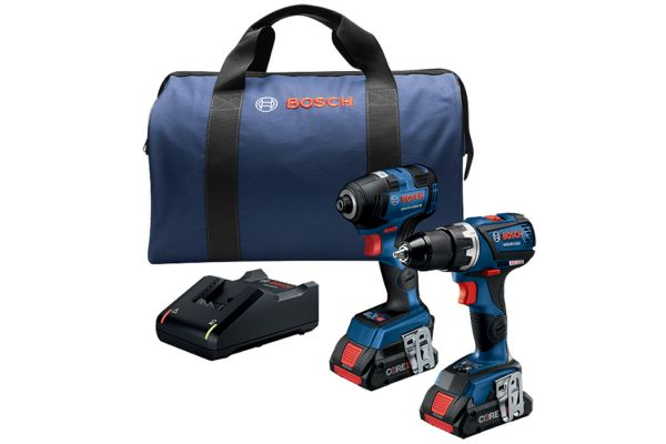 Large image of Bosch Tools 18V 2-Tool Combo Kit - GXL18V-238B25