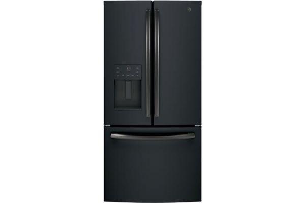 Large image of GE ENERGY STAR 17.5 Cu. Ft. Black Slate Counter-Depth French-Door Refrigerator - GYE18JEMDS
