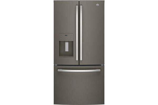 GE 17.5 Cu. Ft. Slate French Door Refrigerator - GYE18JMLES