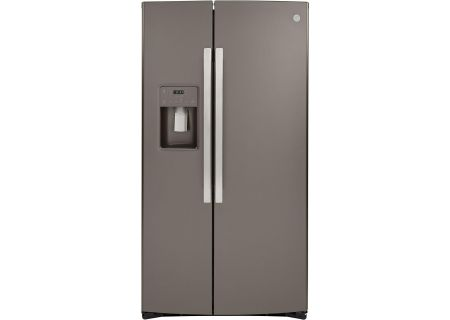 GE Slate Counter-Depth Side-By-Side Refrigerator - GZS22IMNES