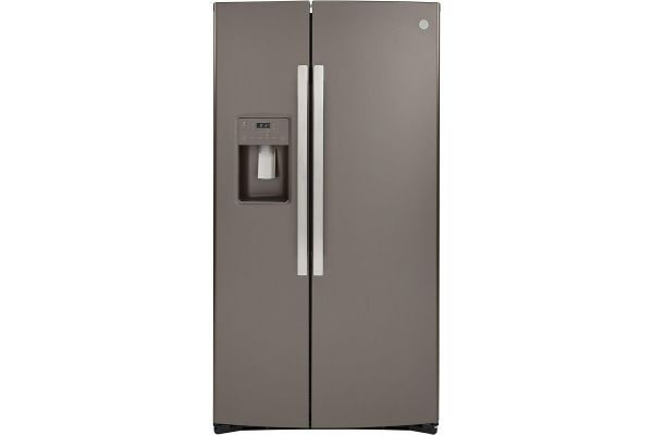 GE Slate Counter-Depth Side-By-Side Refrigerator - GZS22IMNES