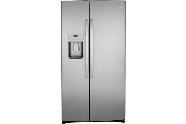 Large image of GE 21.8 Cu. Ft. Fingerprint Resistant Stainless Steel Counter-Depth Side-By-Side Refrigerator - GZS22IYNFS
