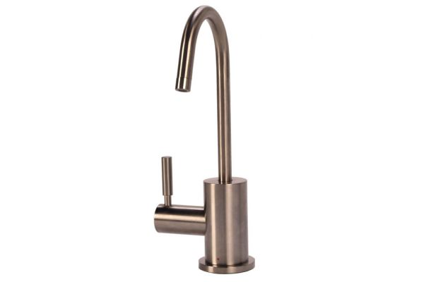 BTI Aqua-Solutions Contemporary C-Spout Hot Only Brushed Nickel Filtration Faucet - H2400-BN