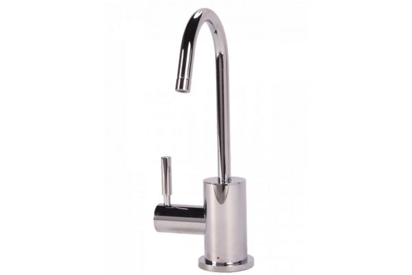 Large image of BTI Aqua-Solutions Contemporary C-Spout Hot Only Chrome Filtration Faucet - H2400-CH