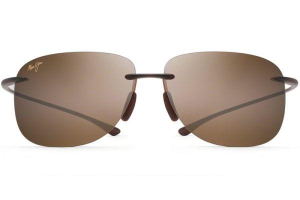 Large image of Maui Jim Hikina Matte Rootbeer Unisex Sunglasses - H445-26M