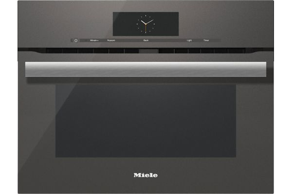 """Large image of Miele 24"""" Graphite Grey Built-In PureLine M Touch Speed Oven - H6800BMGRGR"""