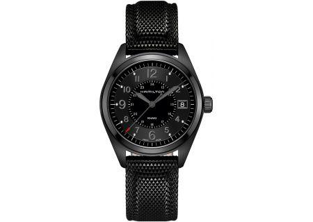 Hamilton Khaki Field Quartz Black Mens Watch - H68401735