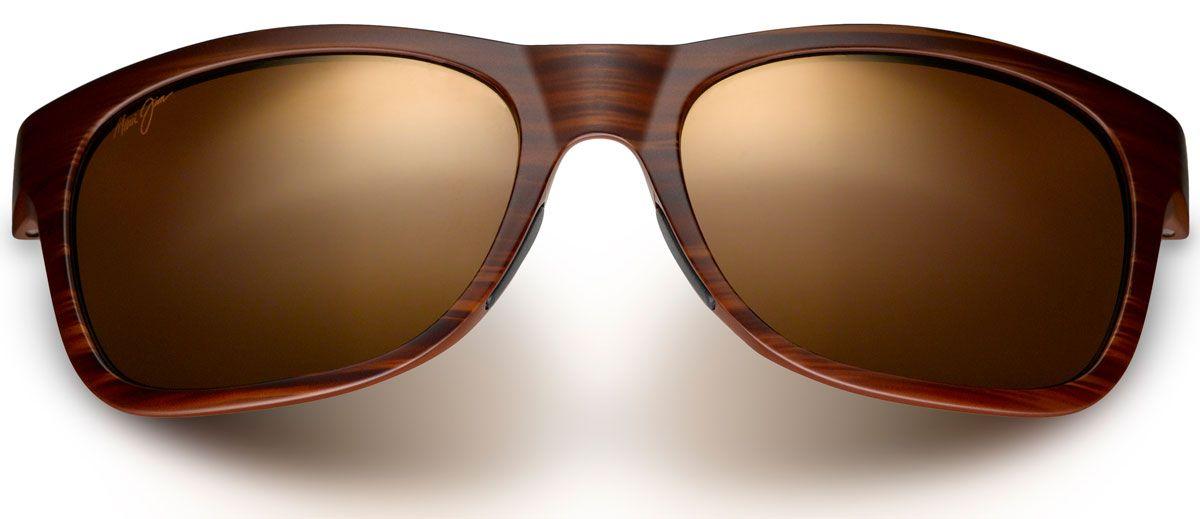 c305e48552 Maui Jim Kahi Matte Brown Woodgrain Mens Sunglasses - H736-25W