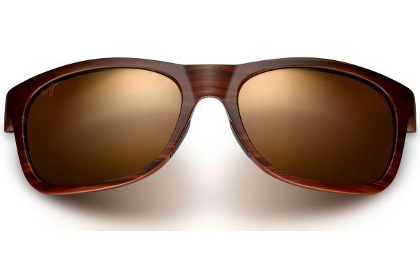 Maui Jim Kahi Matte Brown Woodgrain Mens Sunglasses - H736-25W