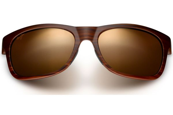 Large image of Maui Jim Kahi Matte Brown Woodgrain Mens Sunglasses - H736-25W