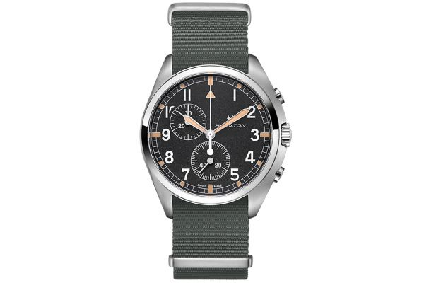 Large image of Hamilton Khaki Pilot Pioneer Chrono Quartz Mens Watch - H76522931