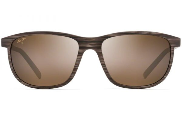 Large image of Maui Jim Dragon's Teeth Brown Stripe Unisex Sunglasses - H811-25C