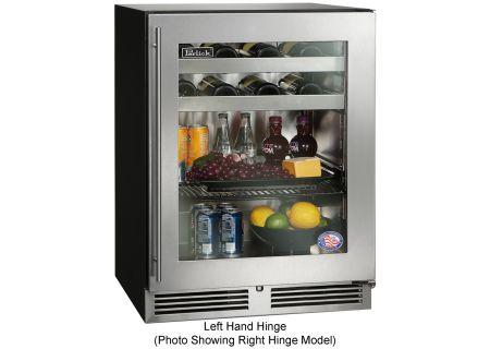 """Perlick 24"""" ADA Series Stainless Steel Glass Door Beverage Center - HA24BB-3-3L"""