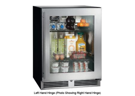 "Perlick 24"" ADA-Compliant Stainless Steel Glass Door Refrigerator - HA24RB-3-3L"