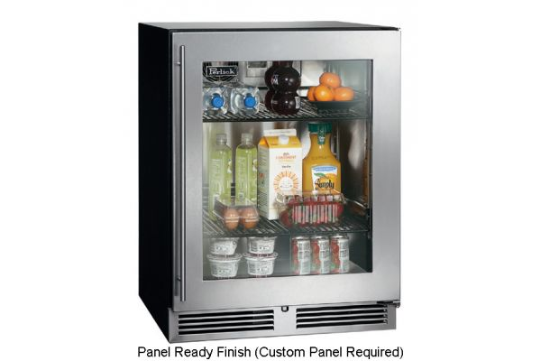 "Perlick 24"" ADA-Compliant Panel Ready Glass Door Refrigerator - HA24RB-3-4R"