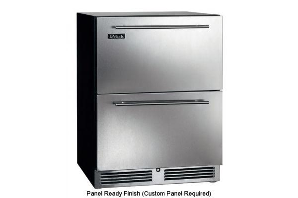 "Perlick 24"" ADA-Compliant Panel Ready Refrigerator Drawers - HA24RB-3-6"