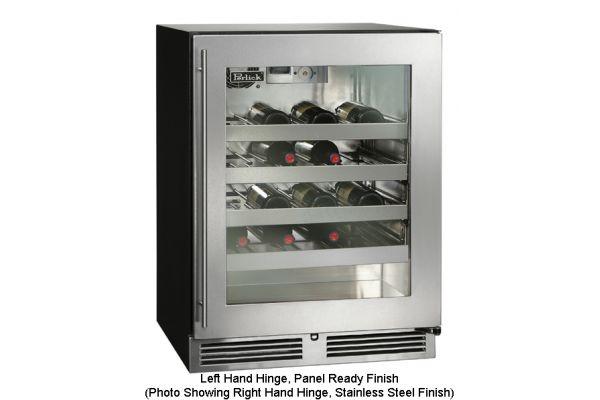 """Large image of Perlick 24"""" ADA-Compliant Series Panel Ready Glass Door Left-Hinge Indoor Wine Reserve - HA24WB-3-4L"""