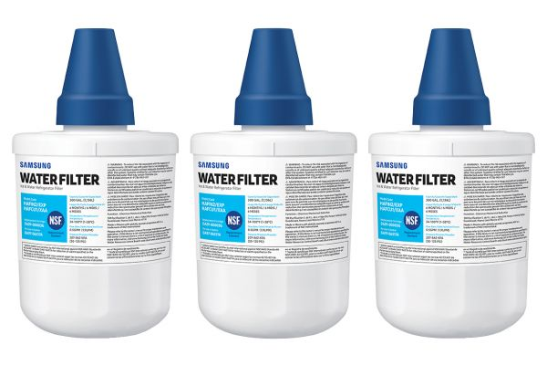 Large image of Samsung 3-Pack Refrigerator Water Filter - HAF-CU1-3P/XAA