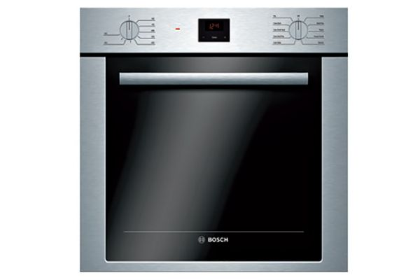 """Large image of Bosch 500 Series 24"""" Stainless Steel Single Wall Oven - HBE5453UC"""