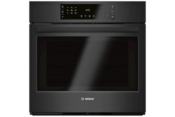 """Large image of Bosch 800 Series 30"""" Black Electric Single Wall Oven - HBL8463UC"""
