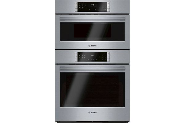 """Large image of Bosch 800 Series 30"""" Stainless Steel Microwave Combination Oven - HBL87M53UC"""