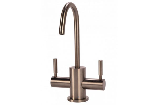 BTI Aqua-Solutions Contemporary C-Spout Hot & Cold Brushed Nickel Filtration Faucet - HC2400-BN