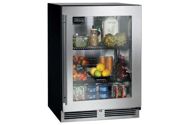 """Perlick C- Series 24"""" Glass Door Right Hinged Indoor Beverage Center - HC24RB-3-3R"""