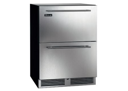 "Perlick C- Series 24"" Stainless Steel Indoor Refrigerator Drawers - HC24RB-3-5"
