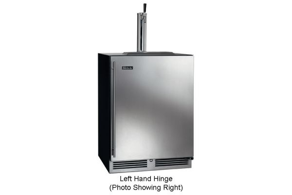 """Perlick 24"""" Stainless Steel C-Series Left Hinge Indoor Beer Dispenser - HC24TB-3-1L1"""