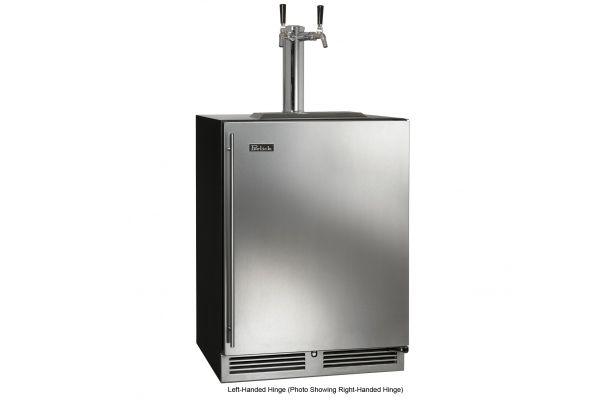 """Perlick 24"""" Indoor C-Series Stainless Steel Beer Dispenser - HC24TB-3-1L2"""