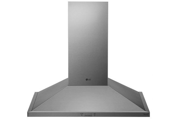 """Large image of LG 36"""" Stainless Steel Wall Mount Chimney Hood - HCED3615S"""