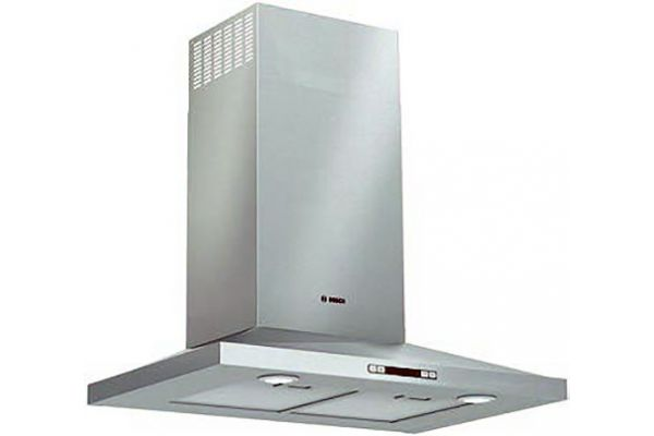 "Large image of Bosch 30"" 300 Series Stainless Steel Pyramid Canopy Chimney Hood - HCP30E52UC"