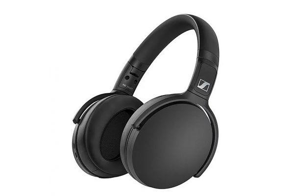 Large image of Sennheiser HD 350BT Black Over-Ear Wireless Headphones - 508384