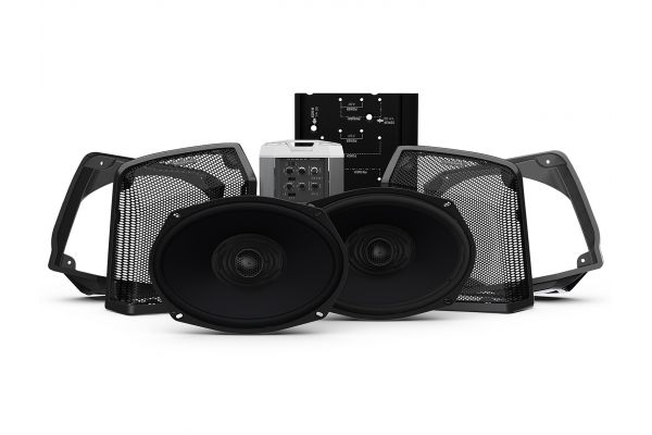 Large image of Rockford Fosgate Two Speakers & Amplifier Kit For Select 1998-2013 Road King Motorcycles - HD9813RK-STAGE 2