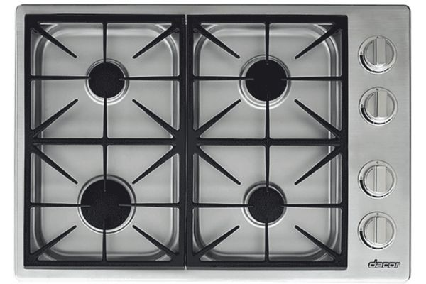 """Large image of Dacor Professional 30"""" Stainless Steel Natural Gas Cooktop - HDCT304GS/NG"""