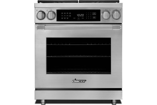 """Large image of Dacor Professional 30"""" Stainless Steel Dual Fuel Natural Gas Pro Range - HDPR30S/NG"""