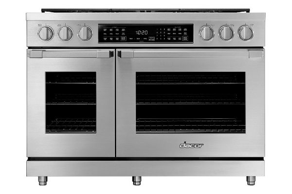 """Large image of Dacor Professional 48"""" Stainless Steel Dual Fuel Pro Range - HDPR48S/NG"""