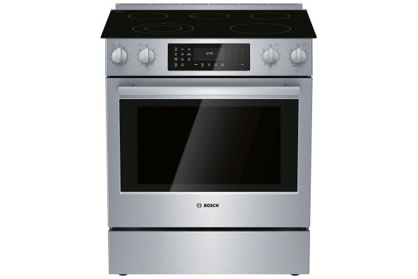 "Bosch 30"" Stainless Steel Slide-In Electric Range - HEI8056U"