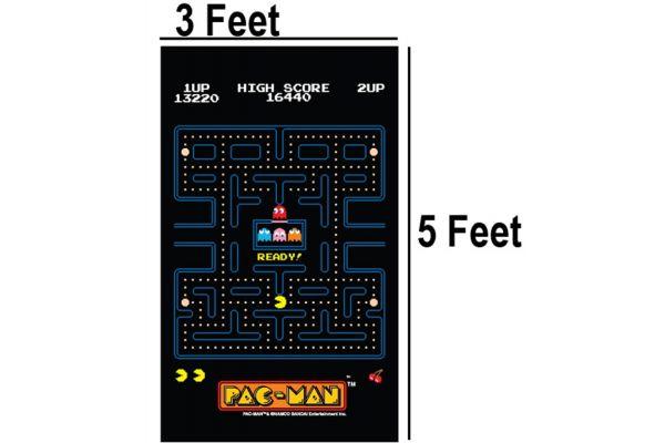 Large image of Namco Pac-Man Maze Carpet 3X5 - HG97-16671-00
