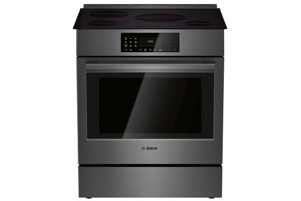 "Bosch 30"" Black Stainless Steel Slide-In Induction Range - HII8046U"