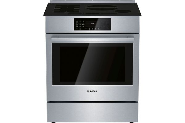 "Bosch 30"" Benchmark Series Stainless Steel Induction Slide-In Range - HIIP056U"