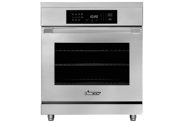 """Large image of Dacor Professional 30"""" Silver Stainless Steel Induction Pro Range - HIPR30S"""