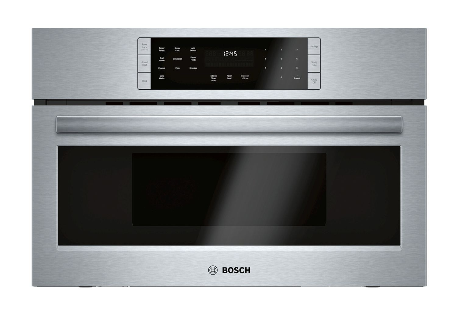 "Bosch 800 Series 30"" Stainless Steel Convection Speed Built-In Microwave  Oven - HMC80252UC"