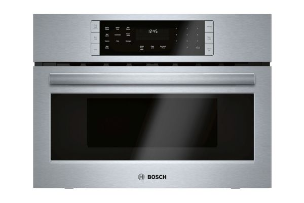 """Bosch 800 Series 27"""" Stainless Steel Convection Speed Built-In Microwave Oven - HMC87152UC"""