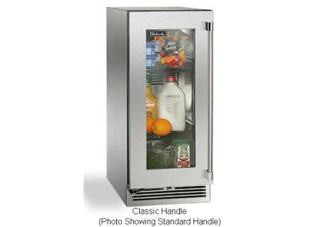 """Perlick 15"""" Stainless Steel Glass Door Signature Series Outdoor Refrigerator - HP15RO-3-3LC"""